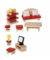 Woonkamer meubeltjes voor een poppenhuis